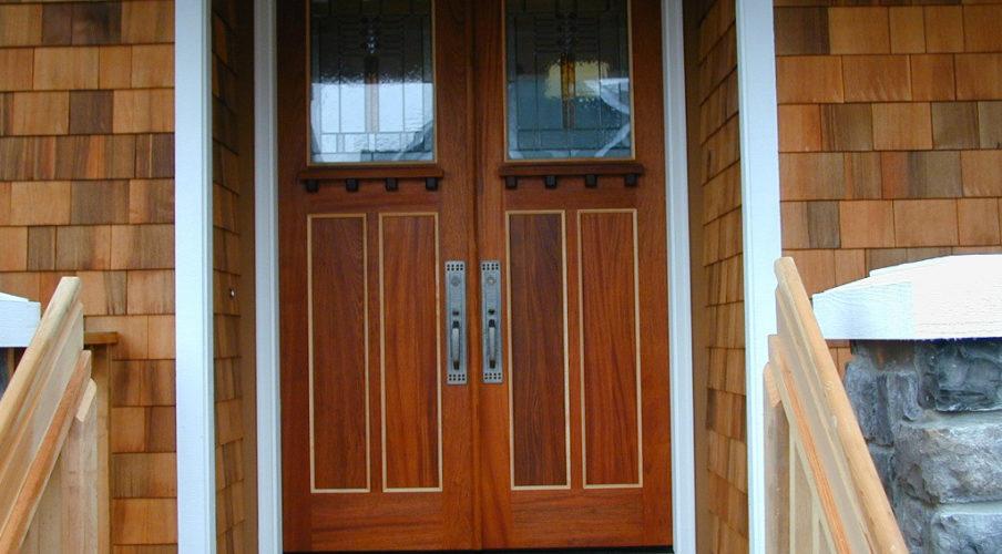 Custom stained front door