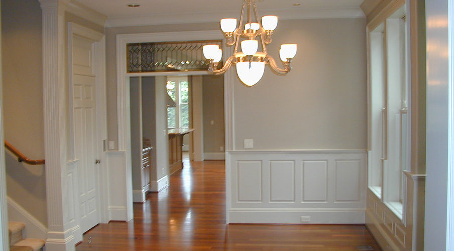 Interior woodwork and wall painting