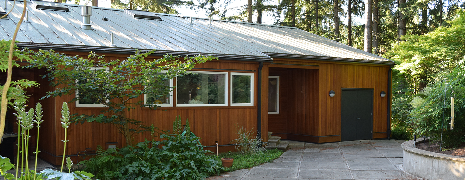 We re stained the exterior of this west linn home